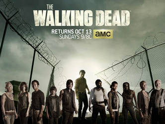 Walking Dead Season 4 cast wallpaper