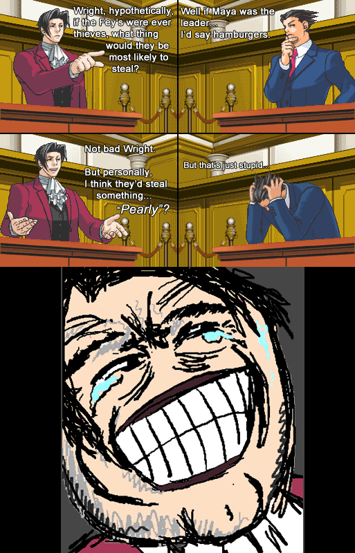 Miles Edgeworth and His Terrible Puns #7 by DarkMatter89