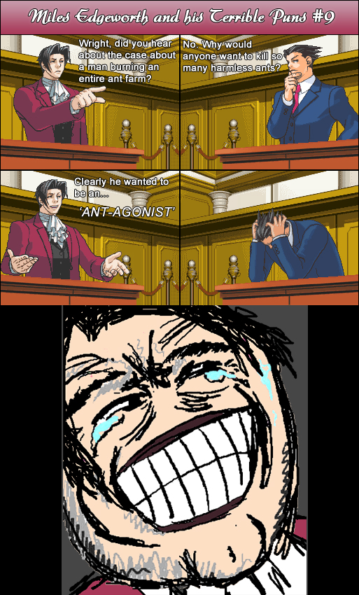 Miles Edgeworth and His Terrible Puns #9 by DarkMatter89