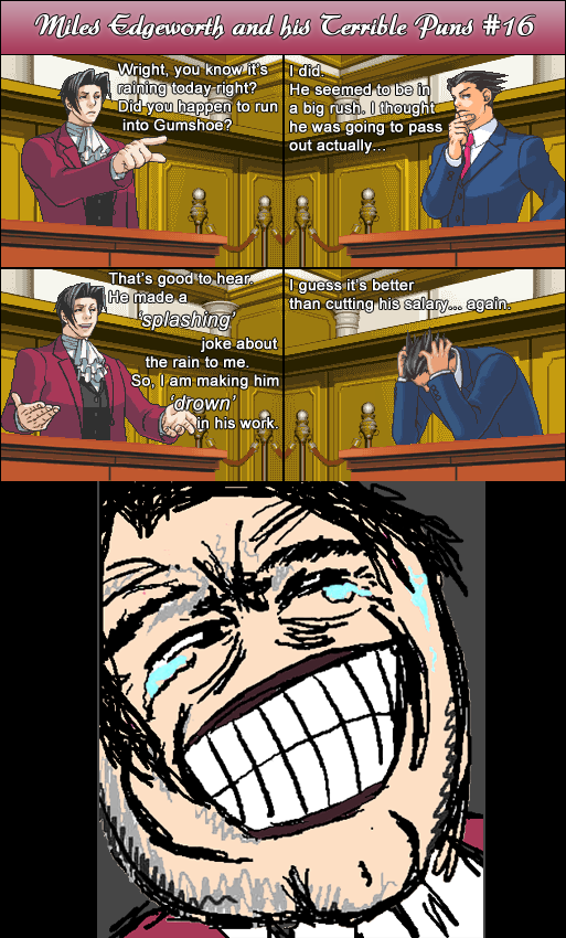 Miles Edgeworth and His Terrible Puns #16 by DarkMatter89