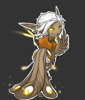 Hugshot chibi harpy by Iriadescent
