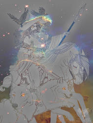 Odin the All Father by Iriadescent