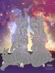 Ostara and Eostre by Iriadescent