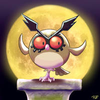 Hoothoot by Raiba-art