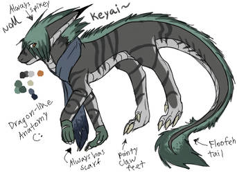 Keyai Ref. Sheet by TeaDino