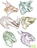 --+ Dragon Heads by TeaDino