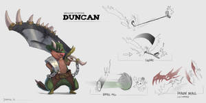 Dragon Hunter Duncan by TeaDino