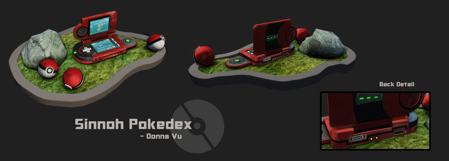 3D Sinnoh Pokedex by TeaDino