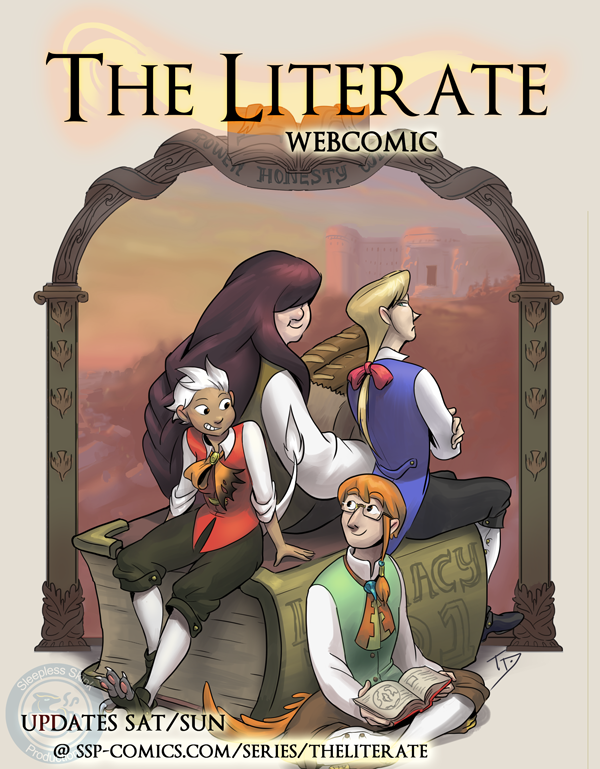 The Literate Cover 4 by TeaDino