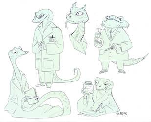 Science Lizards by TeaDino