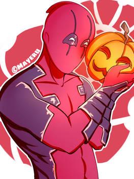 [Fanart] Deadpool x pumpkin