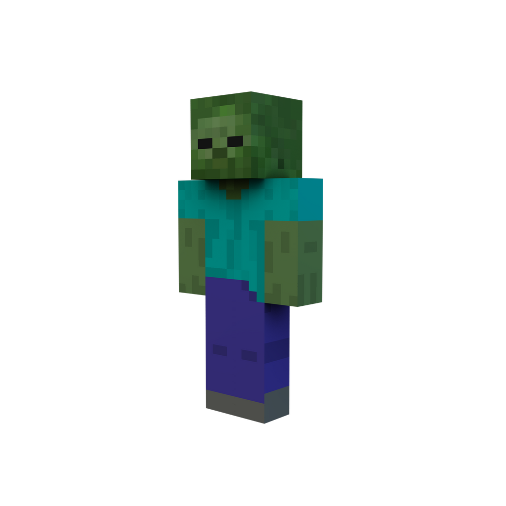 Minecraft render zombie by danixoldier on deviantart - Zombie style minecraft ...