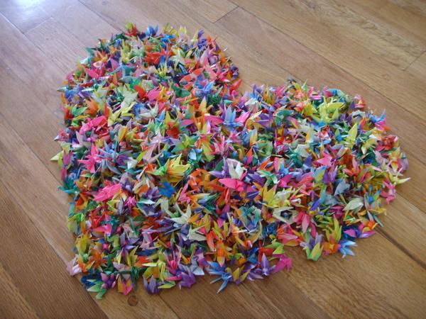 1000 Paper Cranes by Sora84