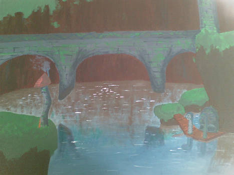 Great Bridge of Hylia GCSE Art