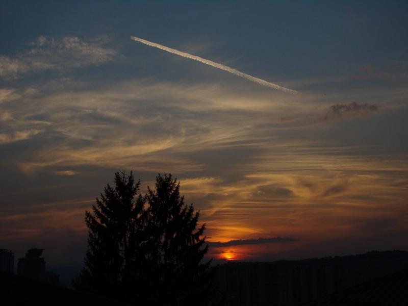 August sunset. by bezosjecajna
