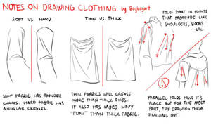 Drawing clothes - thoughts and ideas