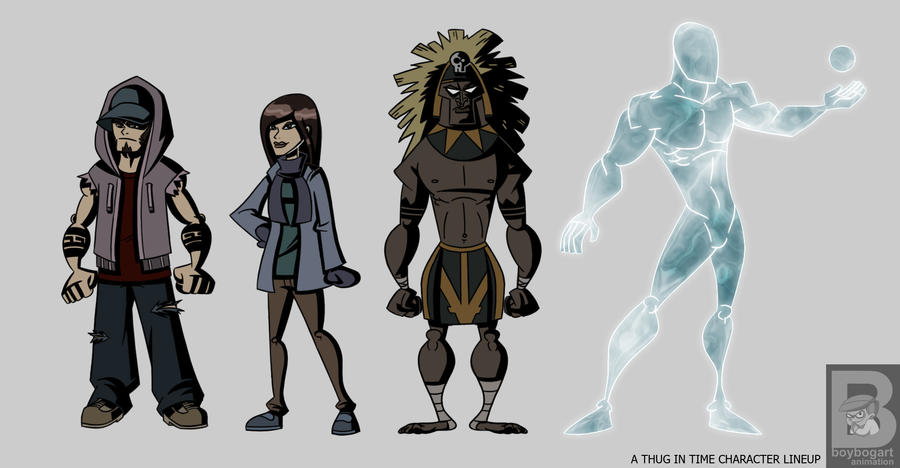 Character Design Lineup : A thug in time character lineup by boybogart on deviantart