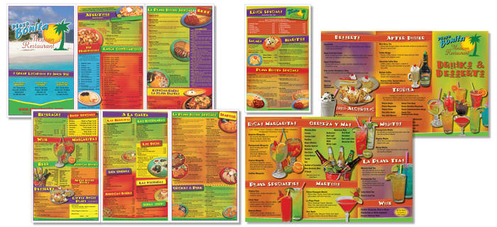 Mexican Restaurant Menu Series