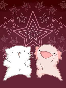 Karameru's Cat and Axolotl