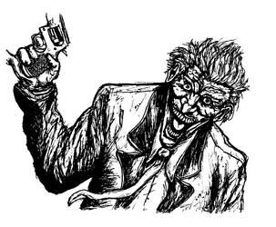 Joker Bw by FXwizeguy