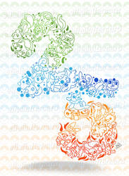 My Pokemon's 25th Anniversary illustration by Eli--Eli