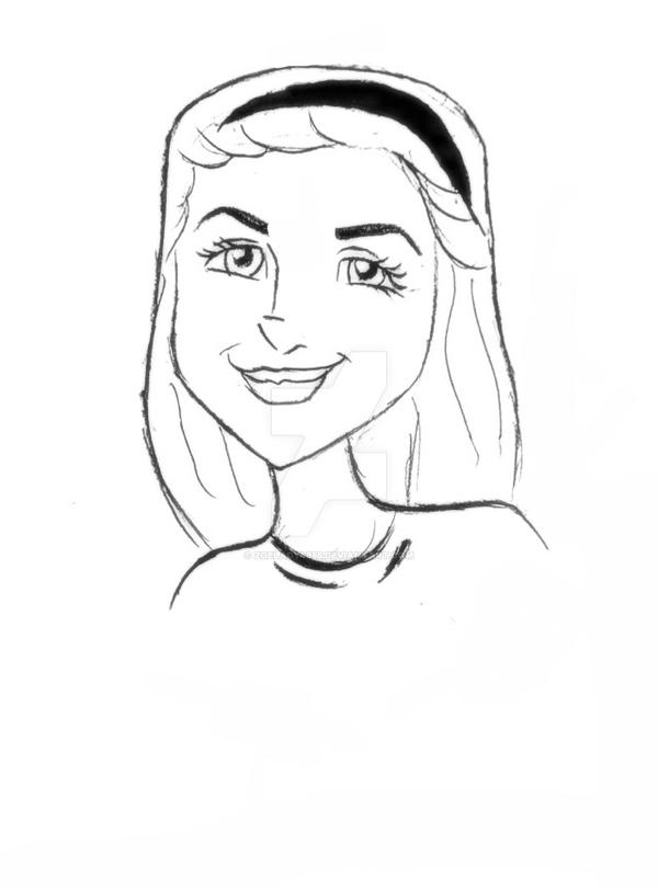 Line Drawing Girl : Line drawing of a girl by zoelady on deviantart