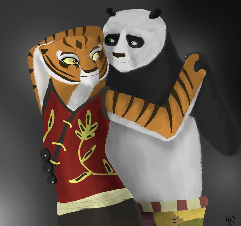 Po and Tigress-PS by AlonDarsSister on DeviantArt