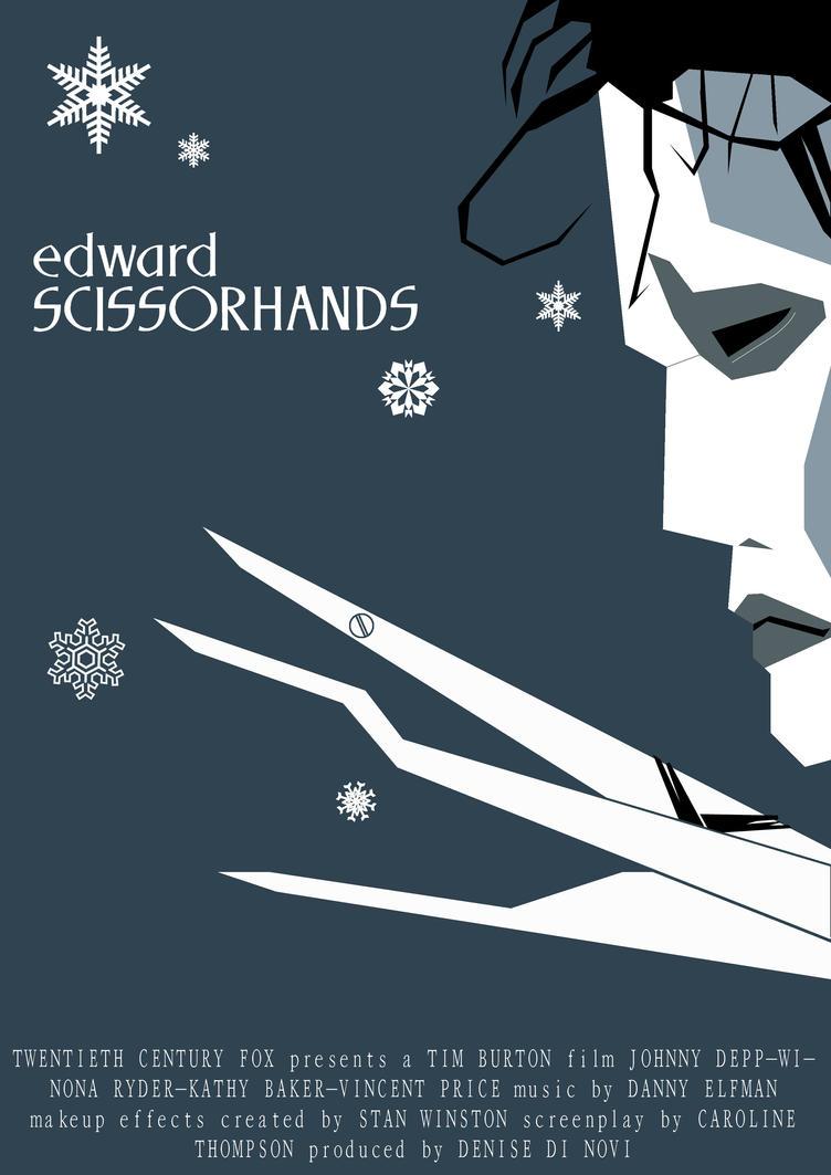 Risultati immagini per edward scissorhands poster