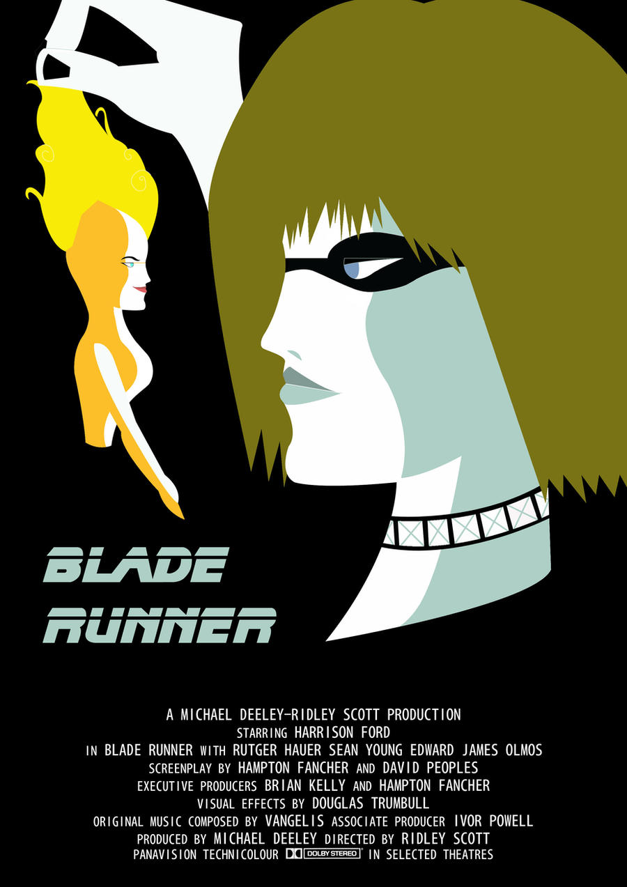 Blade Runner Minimalist Poster by VectorPrime93