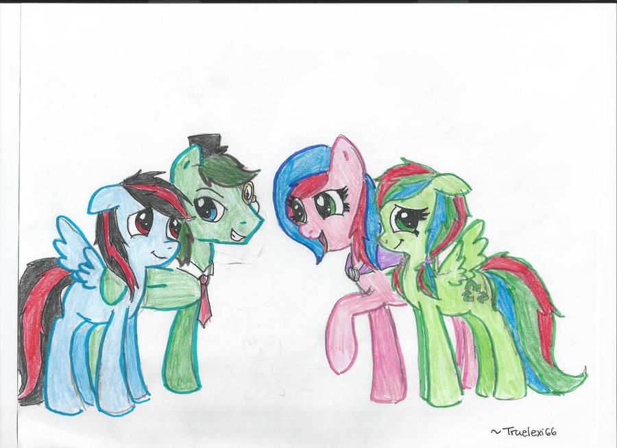 Sweety G, Riff, and Sweety G's parents by K0MPY