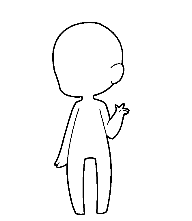 Line Drawing Maker : Chibi lines free by k mpy on deviantart