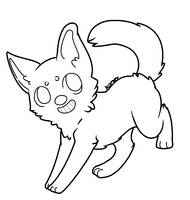 Pup dog lineart by K0MPY