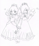 Princess Peach and Princess Rosalina :3