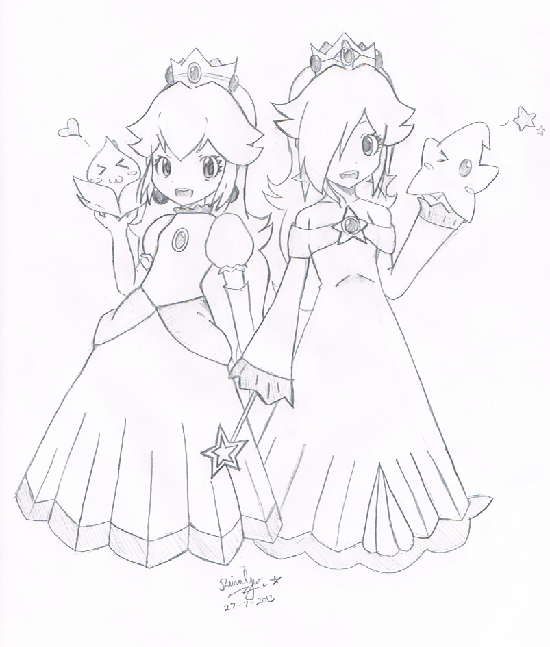 Princess Peach and Princess Rosalina :3 by FantasyXII