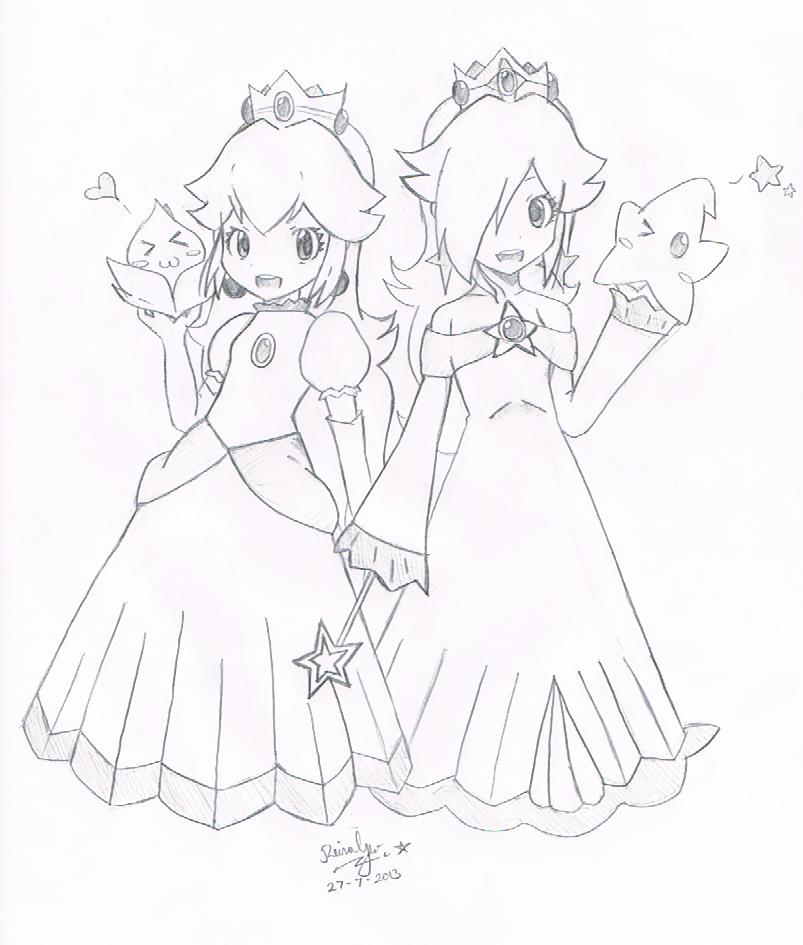 Princess Peach And Princess Rosalina 3 By Fantasyxii On Deviantart