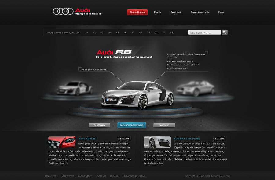 audi 3 by zagipl d3e6k9a Web Design Interface Collection of Inspiration