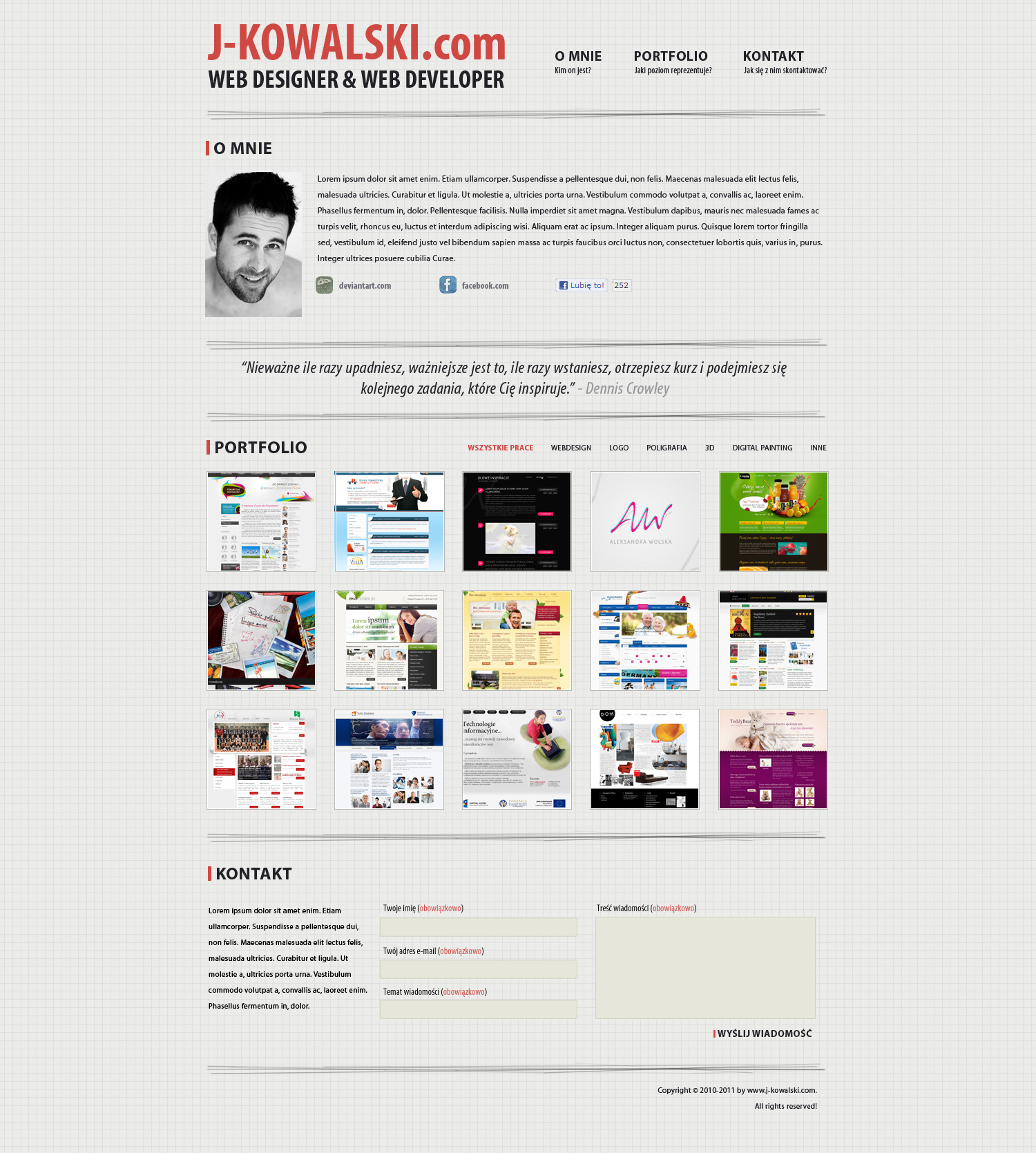 Personal website 2 by zagiPL