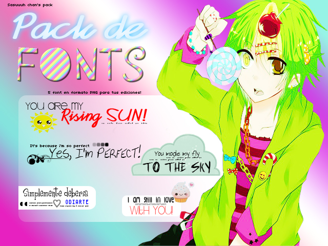 Pack de Fonts by Sasuuuh