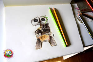 Wall-e Color Sketch by NirmtwarK-s