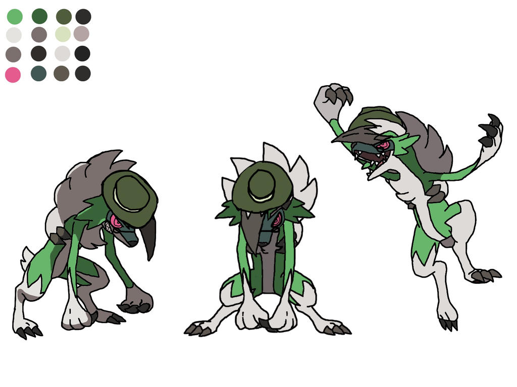 Greencario Were Lycanroc Form Concept Art V1 0 By Been657 On Deviantart