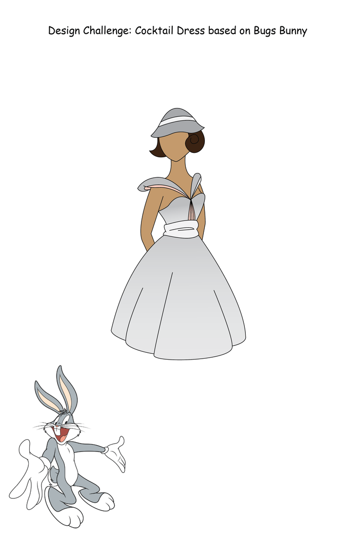 Bugs Bunny Based Cocktail Dress by leogal