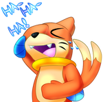 Buizel Laughing by PokeDeviant2000