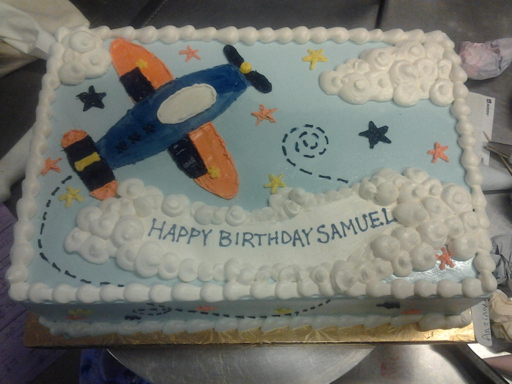 Fly away plane cake by IAmNotAPorkChop on DeviantArt