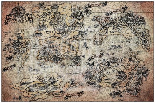 Vintage Map of Norrath