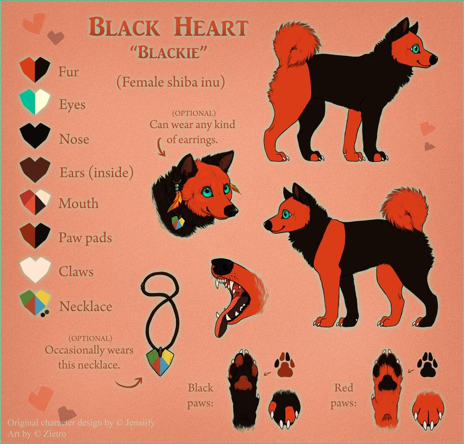 Black Heart Ref Sheet 2014 by Jenaiify