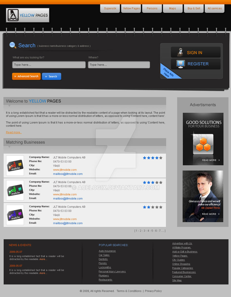 yellow pages site 1 by acelogix