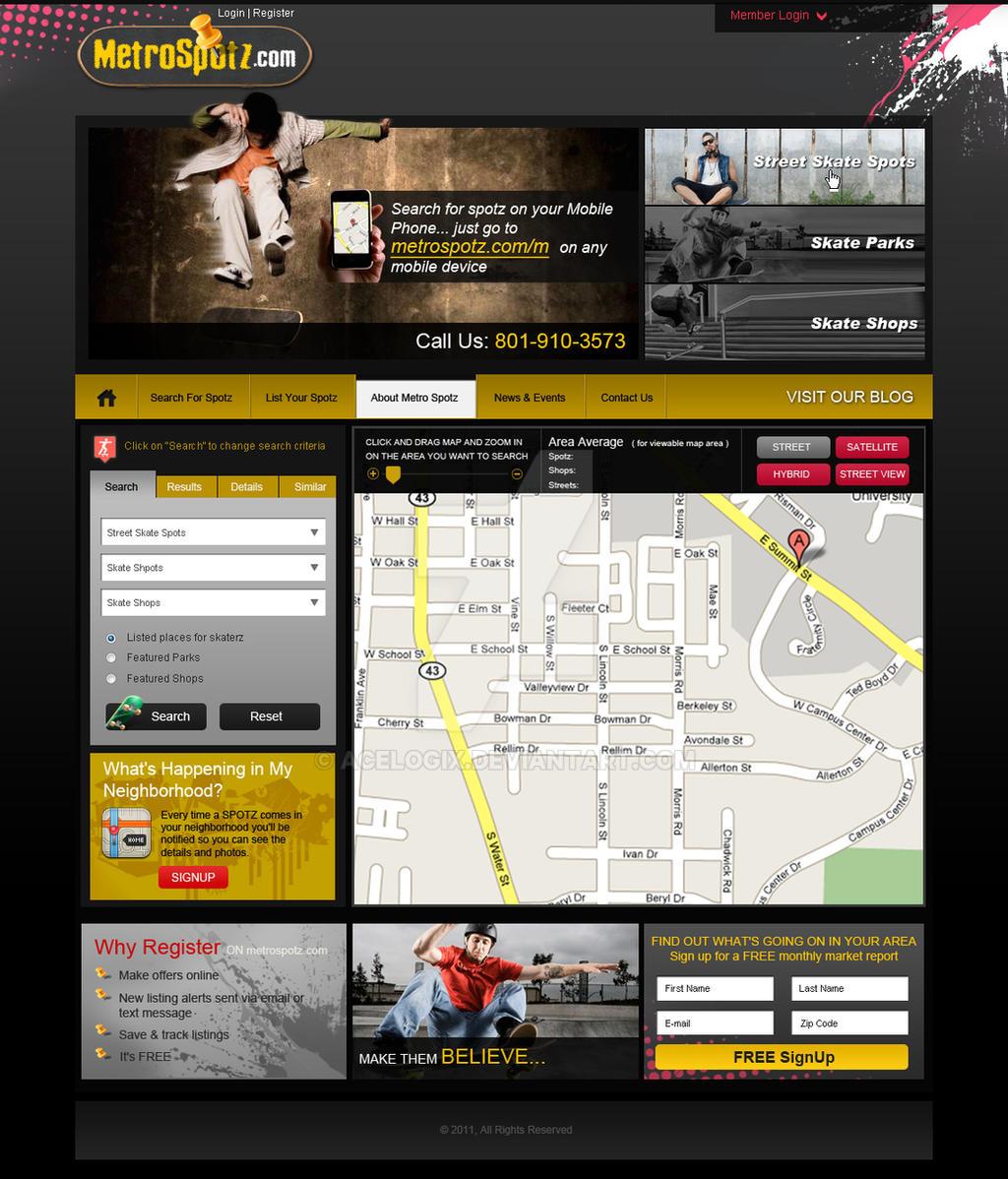 metrospotz website design by acelogix