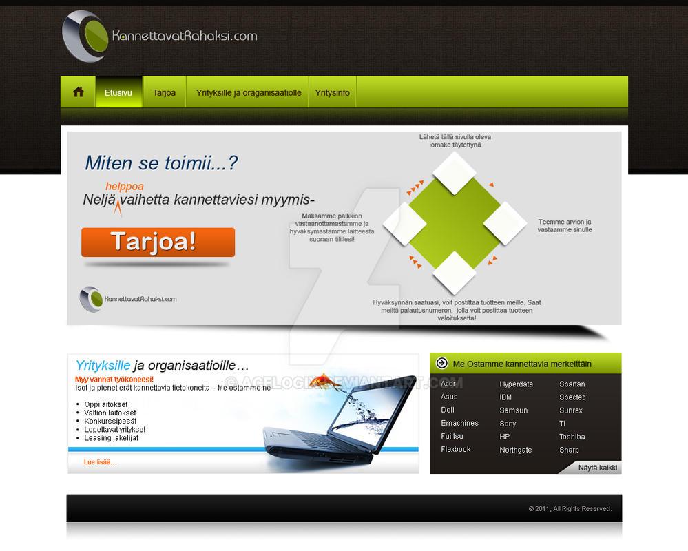 RR website mockup by acelogix