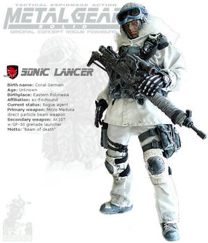 Sonic Lancer: MGS original concept rouge Foxhound