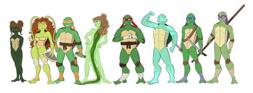 TMNT Gang Lineup by animalpainter